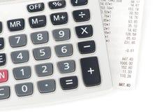 Check and calculator Stock Image