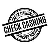 Check Cashing rubber stamp Stock Images