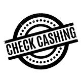 Check Cashing rubber stamp Royalty Free Stock Photos
