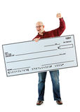 Check: Cheering for the Oversized Check Royalty Free Stock Photo
