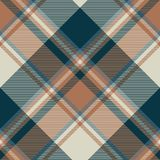 Check classic dark plaid fabric texture seamless pattern. Vector illustration Royalty Free Stock Image