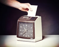 Check clock. Image of vintage check clock Stock Image