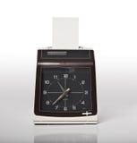 Check clock. Image of vintage check clock Stock Photo