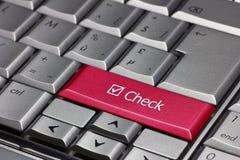 Check computer key Stock Photo