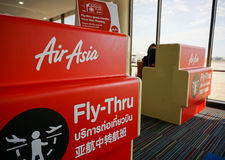 Check-in counter of AirAsia Royalty Free Stock Image