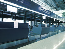 Check in counter in airport Stock Image