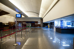 Check in counter in airport Stock Images