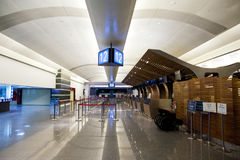 Check in counter in airport Royalty Free Stock Image