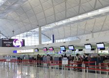 Check in counter in airport at hongkong Royalty Free Stock Photography