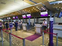 Check in Counter inside Taipei Songshan Airport. Taipei, Taiwan - JUNE 27, 2015: Check in Counter in Taipei Songshan Airport on June 27,2015 in Taipei,Taiwan Stock Photos