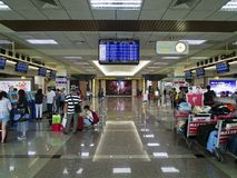 Check in Counter inside Taipei Songshan Airport. Taipei, Taiwan - JUNE 27, 2015: Check in Counter in Taipei Songshan Airport on June 27,2015 in Taipei,Taiwan Royalty Free Stock Photography