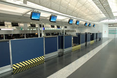 Check-in counters Royalty Free Stock Photo