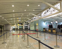 Check-in counters at the airport in Bali, Indonesia Stock Image