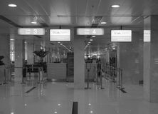 Check-in counters at the airport in Cam Ranh, Vietnam Royalty Free Stock Photo