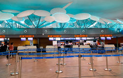 Check-in counters at the airport in Kuala Lumpur, Malaysia Royalty Free Stock Photo