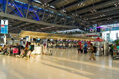 Check-in counters at Bangkok's new airport Royalty Free Stock Photos