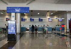 Check-in counters at Dalat airport in Lam Dong, Vietnam Stock Photo