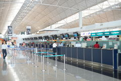 Check-in counters in Hong Kong International Airport Stock Photography