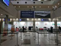 Check-in counters at Lanseria International Airport. South Africa royalty free stock photos