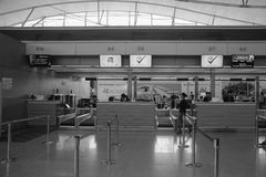 Check-in counters at Phu Quoc airport in Kien Giang, Vietnam Royalty Free Stock Photography