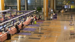 Check In Counters of Singapore Airport Terminal. Stock Image