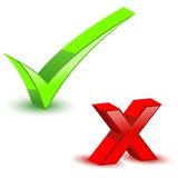 Check and Cross Mark Royalty Free Stock Photography