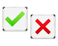 Check and Cross Symbols Royalty Free Stock Images