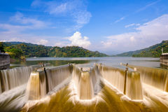 Check dam in Taiwan Royalty Free Stock Photography
