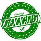 Check on delivery. Stamp with text check on delivery inside, ilustration vector illustration