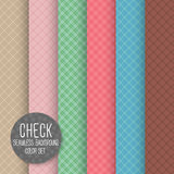 Check Diagonal Seamless pattern. Geometrical vector background. Stock Images