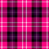 Check diamond tartan plaid fabric seamless pattern background - hot pink, purple, white and gray color Royalty Free Stock Photography