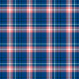 Check diamond tartan plaid fabric seamless pattern background - navy blue and old pink color Stock Image