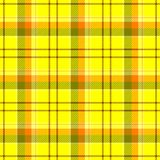 Check diamond tartan plaid fabric seamless pattern background - yellow, orange, brown and green color Stock Photography