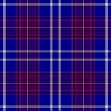 Check diamond tartan plaid fabric seamless texture background - blue, purple and white color. Check diamond tartan plaid fabric seamless pattern texture Stock Photo