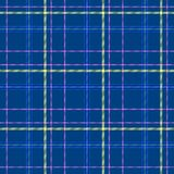 Check diamond tartan plaid fabric seamless texture background - blue, yellow and pink color Stock Image
