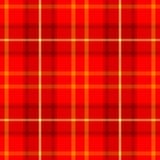 Check diamond tartan plaid fabric seamless texture background - red and yellow color Stock Photos