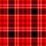Check diamond tartan plaid seamless pattern texture background - red, black and white color stock illustration