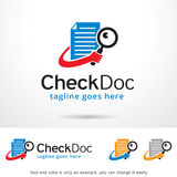 Check Doc Logo Template Design Vector. This design suitable for logo or icon. Color and text can be changed easily Royalty Free Stock Photography