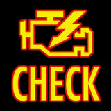 Check engine light Stock Image