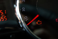 Check engine light. Royalty Free Stock Photos