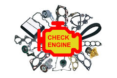 Check engine light symbol Stock Photography