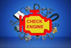 Check engine light symbol Stock Images