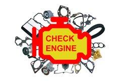 Check engine light symbol Stock Image