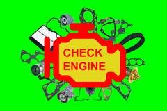 Check engine light symbol Stock Photo