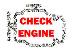 Check engine light symbol when something goes Royalty Free Stock Images