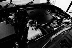 Check Engine Oil and boiler Stock Image