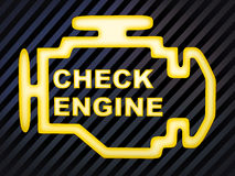 Check engine Royalty Free Stock Photography