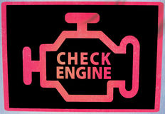 Check Engine signage Stock Photos