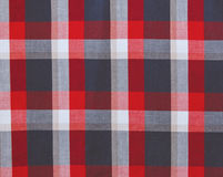 Check fabric background.Red,white,grey and blue colors. Linen texture Royalty Free Stock Image