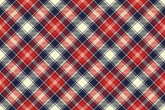 Check fabric texture diagonal lines seamless pattern. Vector illustration Royalty Free Stock Photography